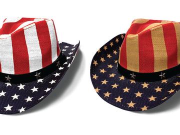 Sell: 9 x Patriotic Cowboy Hats - Stars, Stripes / Vintage