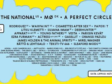 Myydään: 3-day ticket for Sideways Festival with The National, Mø, ..