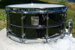 Selling with online payment: Fortune 14x6.5 Black Nickel Over Brass Snare Drum (Like New)
