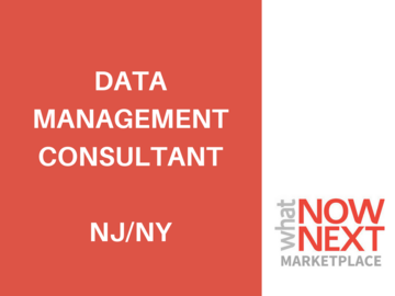 Help Needed: Data Management Consultant for Financial Services Firm