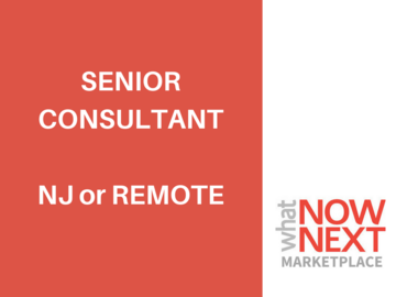 Help Needed: Senior Consultant: Parsippany, NJ or Remote