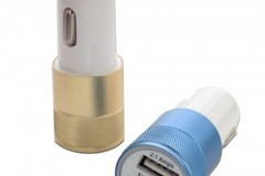 Sell: 66x Super Duty Aluminum Dual USB Car Charger in retail packa