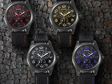 Sell: 40x Units Men's Silicone Strap Sport Quartz Hours Wrist Watc