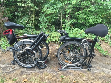 Renting out: The two Bromptons
