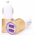 Sell: Gold Metal Dual USB Port Car Charger Universal 12 Volt (200)
