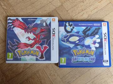 Vente: jeux 3DS Pokemon Y et saphir alpha