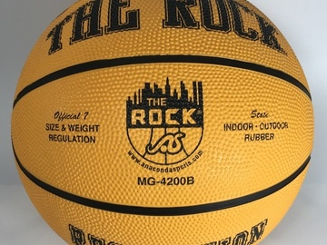 Sell: Lot of 27 The Rock Yellow Basketball Indoor/Outdoor MG-4200B
