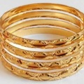 Sell: (243) New Multitone Multilayer Golden Bangles