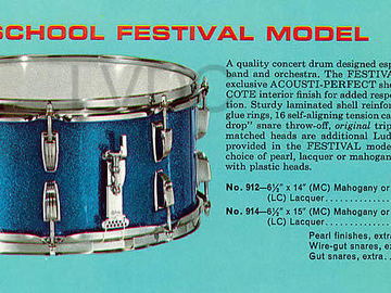 SOLD!: SOLD! '67 Ludwig School Festival 6.5 x 14 Snare