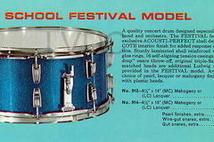 SOLD!: '67 Ludwig School Festival 6.5 x 14 Snare