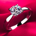 Sell: 18k Classic 1.2ct White Gold Plated CZ Diamond Ring Size 6