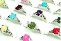 Sell: Acrylic with Silver Plated Fashion Rings Mix Size 5-9 US NEW