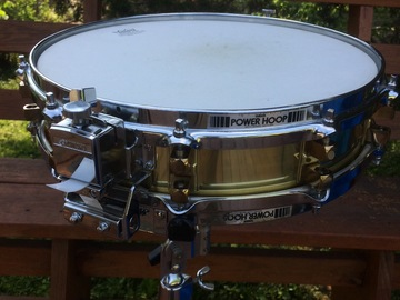 Selling with online payment or cash/check/money order/cash app/Venmo: Yamaha SD493 3.5 x14 seamless brass piccolo snare - reduced