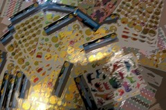 Sell: Mix Lot Of Autocoants Stickers. Foil Emoji, Pop up Butterfly