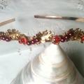 Vente au détail: serre tete fleur Houx, headband