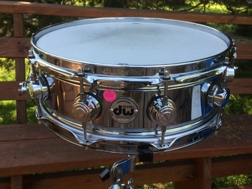 VIP Members' Sales Only: SOLD! DW 5x14 True-Sonic Chrome Over Brass Snare