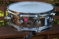 Selling with online payment or cash/check/money order/cash app/Venmo: SOLD! DW 5x14 True-Sonic Chrome Over Brass Snare