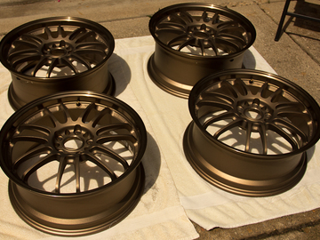 Selling: 18x7.5 & 18x8.5 | 5x114.3 | Volk RE30 Bronze wheels for sale