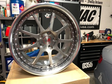 Selling: 18x9.5 | 5x112 | Seven K 2-piece forged wheels for sale