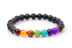Sell: Natural Lava Rock Stone Charm Bracelets for Men and Women