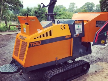 Daily Equipment Rental: FORST TR8 Tracked 8 inch Wood Chipper Hire