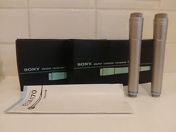 Renting out: 2 Sony ECM170 microphones (drum overhead mics)