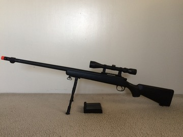 Selling: M24 with 5 mags, bi-pod, and free scope