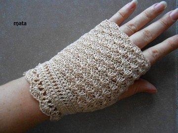 Vente au détail: mitaines femme anti-uv en coton beige