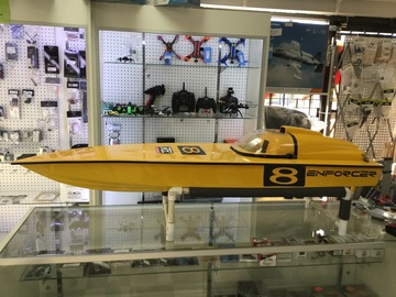"Selling: Enforcer 52"" Gas RC Boat Hull"
