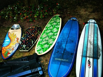 "For Rent: 9'6"" Longboard - great for learning to surf on"