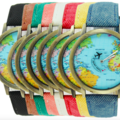 Sell: Globe World Map Unisex Watches Multiple Colors (55) NEW