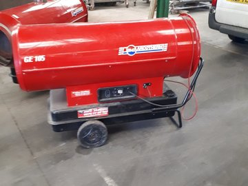 Daily Equipment Rental: COMMERCIAL DIESEL POWERED HEATER 80KW