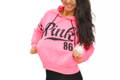 Sell: Women's Long Sleeve Pullover Hoodie Pink Size M (20)