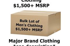 Sell: Customer Return-Name brand Mens Clothing MSRP $1500