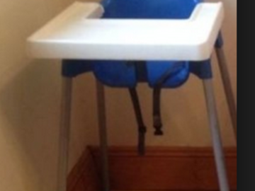 Annetaan: Ikea high chair for baby/toddler