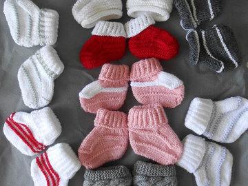 Vente au détail: Chaussons bébé,boots en laine,chaussons bébé laine,chaussons