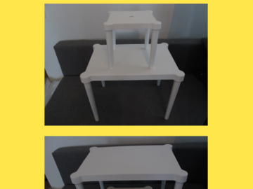 Myydään: Baby plastic table and chair
