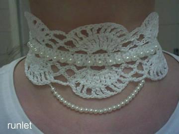 Vente au détail: collier crochet/bijoux fait main,Choker au crochet