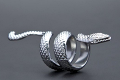 Sell: Mens Silver Punk Snake Ring - Sold on Amazon (100)