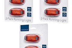 Bulk Lot: LED Flashing Running Biking Flashing Safety Lights 2-Pack