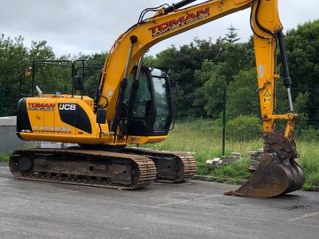 Daily Equipment Rental: JCB JS130 LC 14Te Excavator - Self Drive