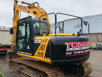 Hourly Equipment Rental: JCB JS130 LC 14Te Excavator - Operated