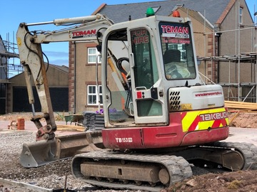 Daily Equipment Rental: Takeuchi Zero Swing TB153FR Compact Excavator - Self Drive