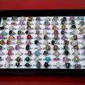 Sell: 100x Genuine Stone Rings,Platinum Pltd Bands, Retail@ $10 ea