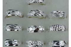 Sell: Lot of 50 Women Men's Silver Rings Adjustable