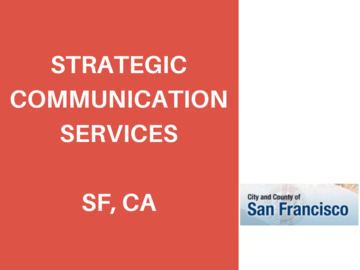 Procurement Listing: RFQ: Strategic Communications Services