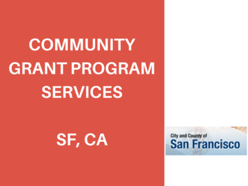 Procurement Listing: RFQ: San Francisco Public Works Community Grant Programs