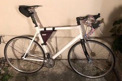 Renting out: Fixed gear with lots of carbon. For >6'1 riders