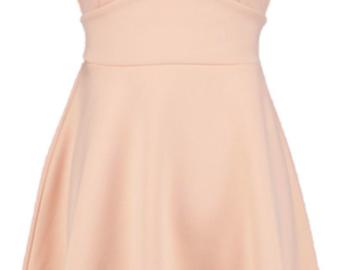 Myydään: Cute short nude skater dress