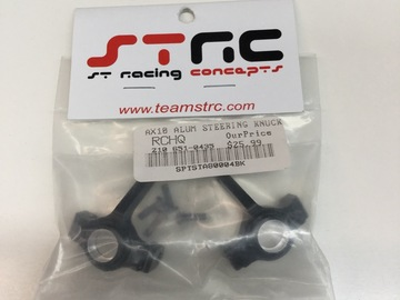 Selling: STRC SCX10/AX10 Alum Steering knuckles black (1 pair)